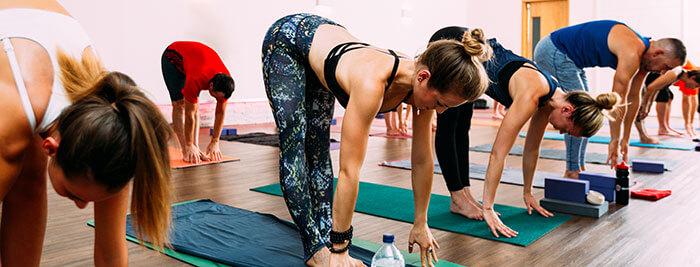 Hot Yoga fitness class