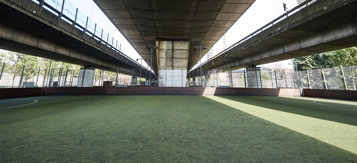 Football pitch at Westway