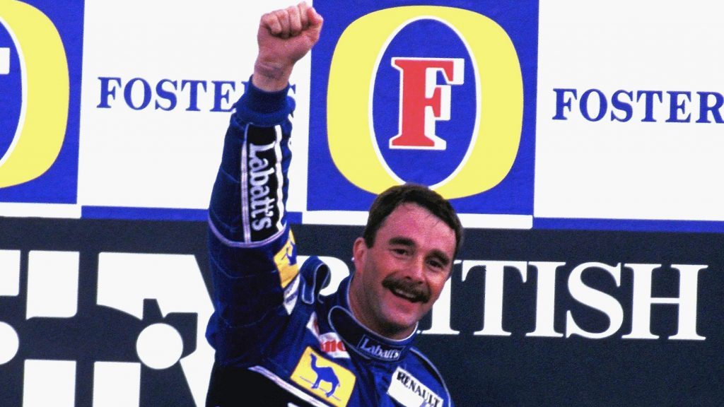 Nigel Mansell - top 10 sporting Moustaches