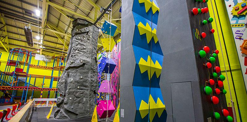 Parklands clip climb Walls & features