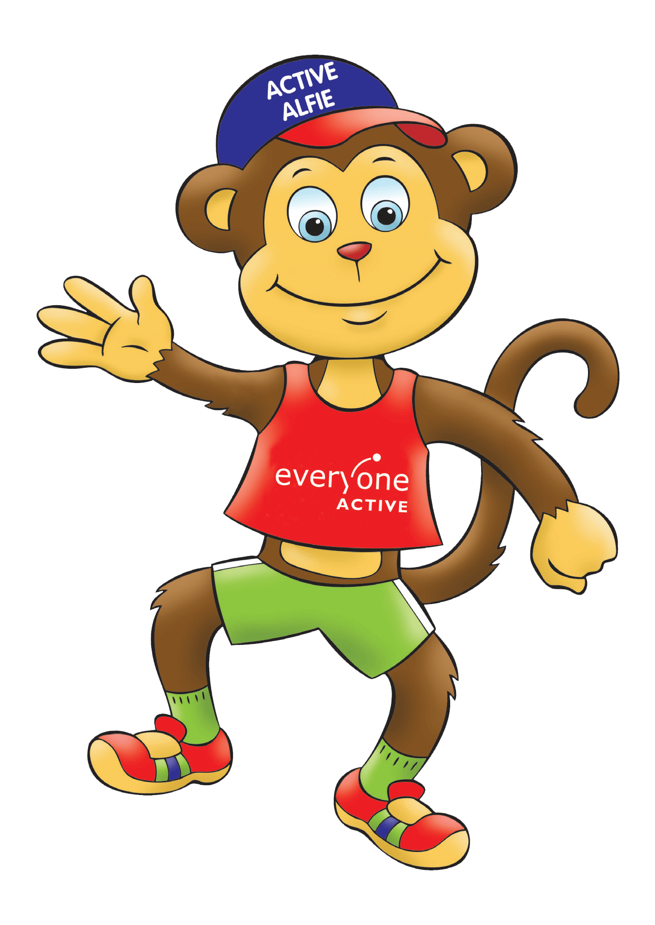 Active Alftie the soft play monkey at Jolly Jungle