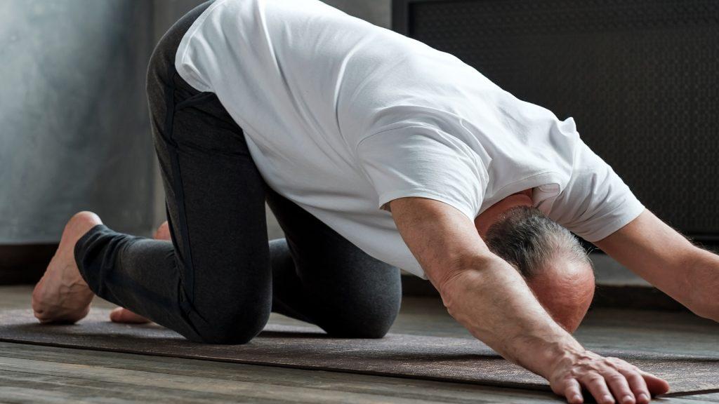 flexibilidad extendida del yoga para perros