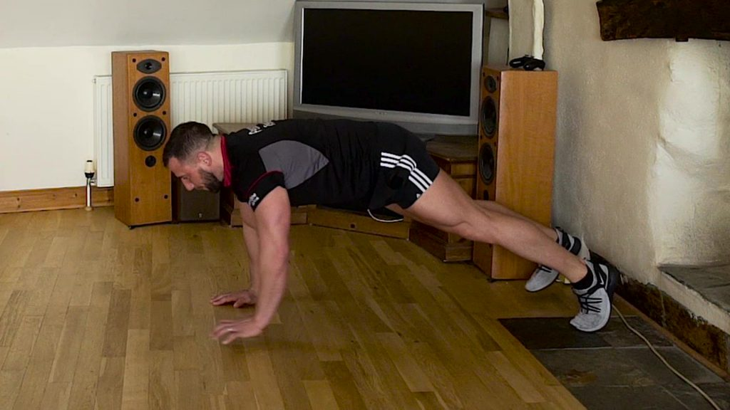 press up walks home exercise