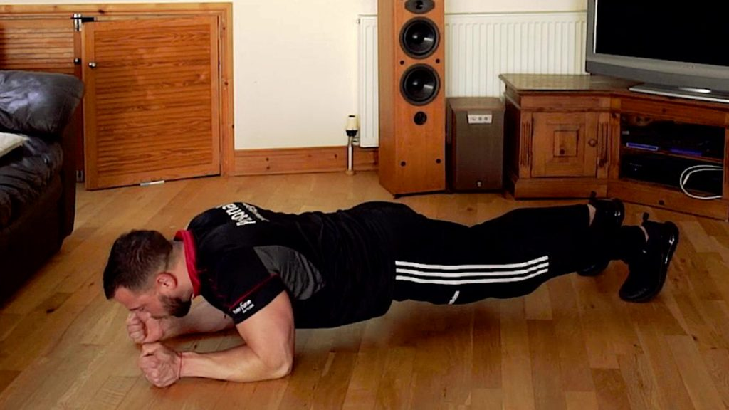 Plank up home circuit workout